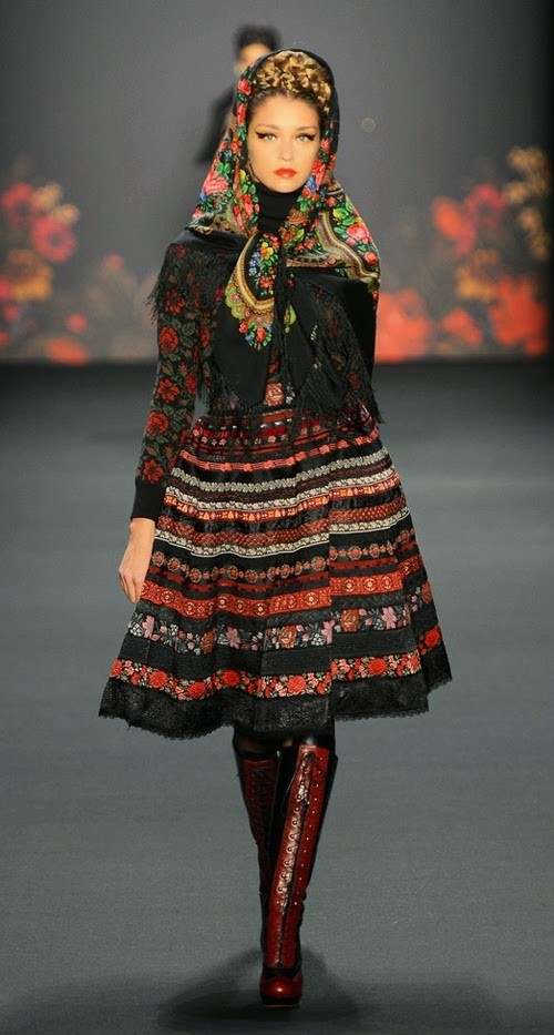 Collection in the style Russian style fashion from designer Lena Hoschek