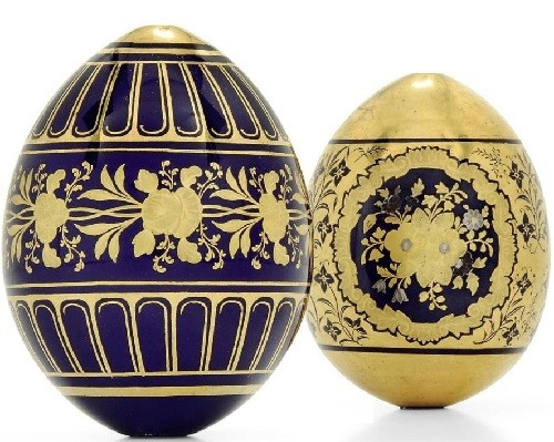 Easter eggs Imperial Porcelain Factory, St. Petersburg (Russia, late XIX - early XX centuries)