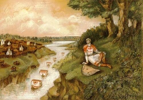 Russian medieval epic Sadko. Illustrator Xenia Myagina