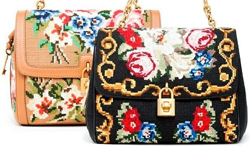 Evening Bag in the Russian style fashion, embroidered with beads