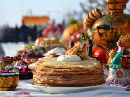 Russian spring festival Maslenitsa. Have fun – don't sit on the stove, go outside - Russian proverb