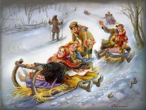 Maslenitsa sleighing