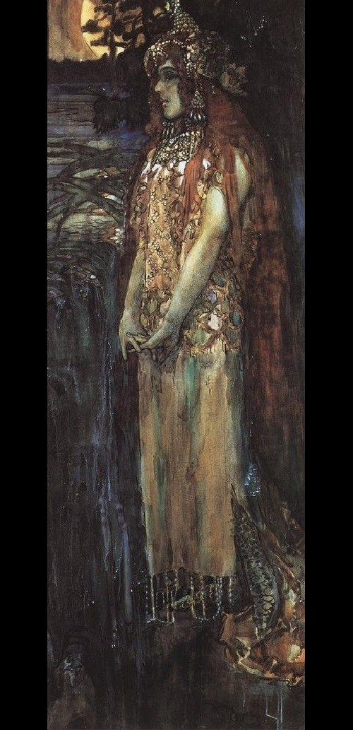 Russian medieval epic Sadko. Mikhail Vrubel. Nadezhda Zabiela-Vrubel as princess Volkhova 1898 State Russian Museum, St. Petersburg