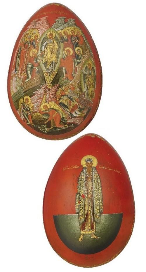 Palekh, Papier-mache, laquer miniature. Russia 19th century