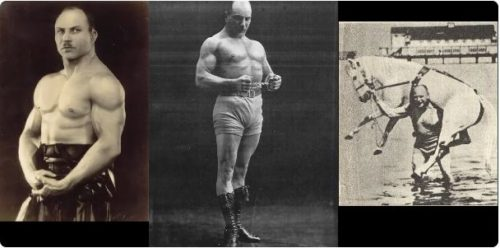 Alexander Zass, nicknamed Iron Samson (1888 - 1965). Master of isometrical exercises and owner of extraordinary strength with mediocre genetics Russian strongmen