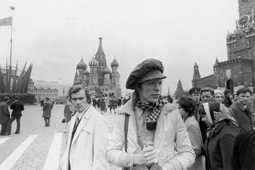 Celebrities visiting Red Square. David Bowie in Moscow