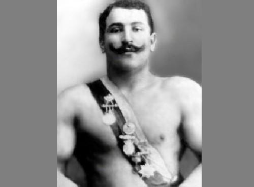Russian strongmen. Yakuba Chekhovskoi (1879, Grodno - July 31, 1941, Leningrad)