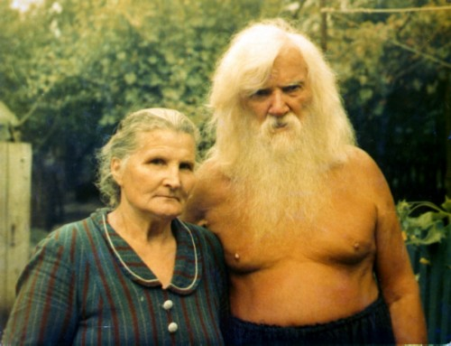 Porfiry ivanov with his wife