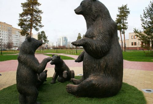 Sculptures in Khanty-Mansiysk