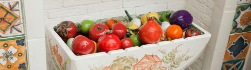 Ceramic fruits and vegetables are the perfect addition to any decor.