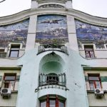 Panel 'Falcon' on the house at the Kuznetsk bridge