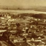 View of the town of Kuznetsk from Voznesenskaya mountain. Photo 1913