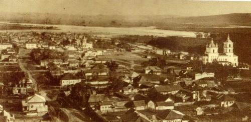 View of the town of Kuznetsk from Voznesenskaya mountain. Photo 1913