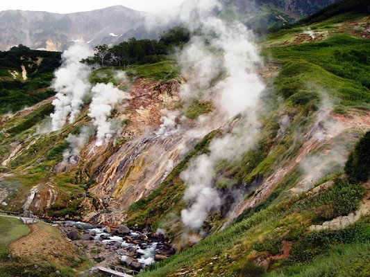 Valley of Geysers in Kamchatka