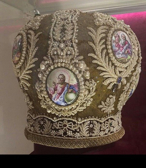 Mitra, 18th century. Museum of finift (enamel) in the Rostov Kremlin