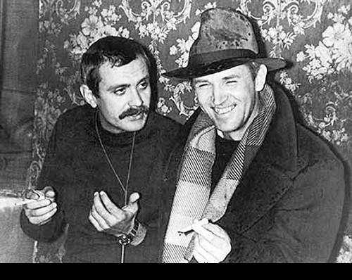 Nikita Mikhalkov and Russian actor Stanislav Lyubshin