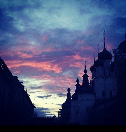 Rostov Kremlin at sunset