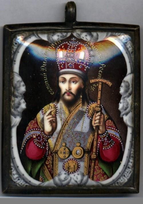 Saint Dimitry of Rostov. In the Museum of finift (enamel) in the Rostov Kremlin