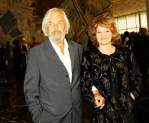 Stanislav Lyubshin with his wife