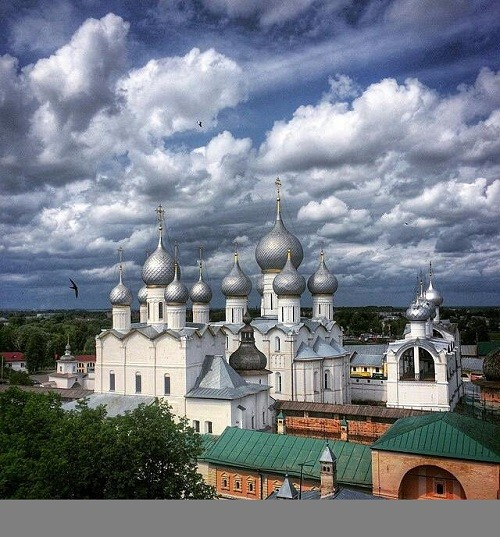 What a beautiful sky over the Rostov Kremlin