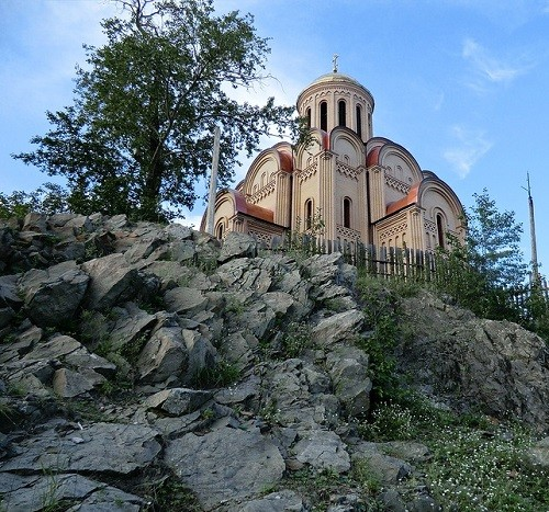 Church of the Archangel Michael on a hill