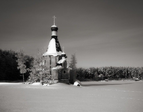 Covered with snow church