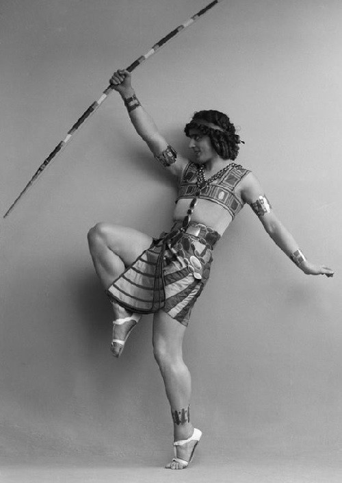 1914 Russian ballet dancer Mikhail Fokin in the ballet Cleopatra, Sweden