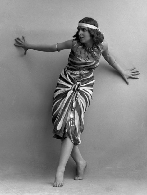 1914 Russian ballet dancer Vera Fokina in the ballet Cleopatra, Sweden
