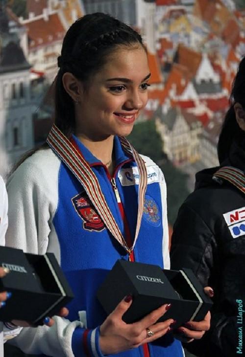 Russian figure skater Evgenia Medvedeva