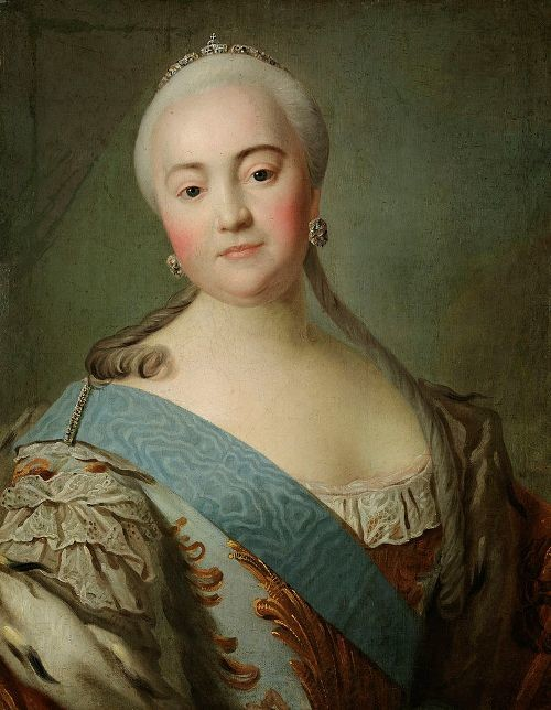 Elizabeth of Russia by an unknown artist (18th century, Tretyakov gallery)