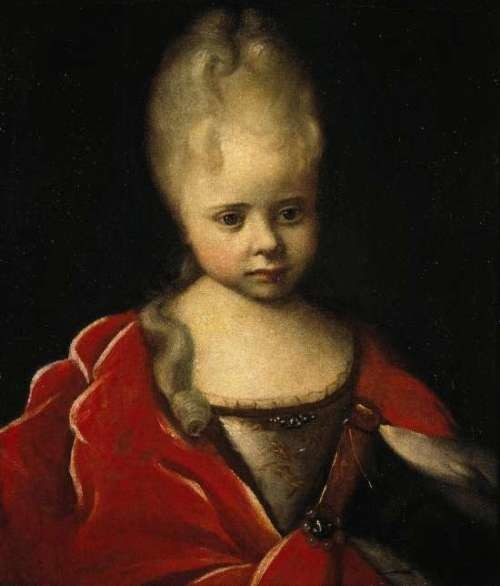 I.N.Nikitin Portrait of Elizabeth as a baby