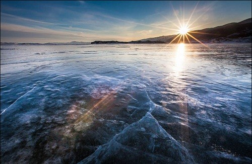 The Baikal, colors of sunset, photographer Alexander Cheban