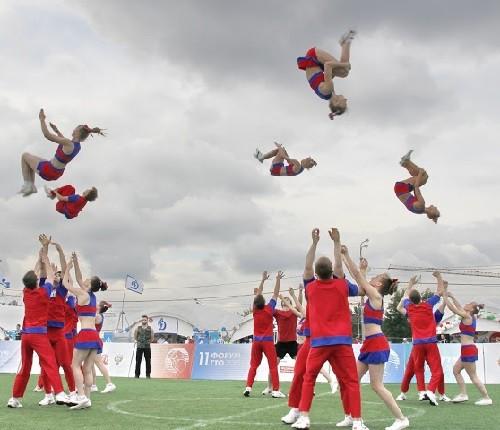 Moscow cheerleaders festival