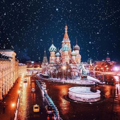 Moscow on Christmas holidays