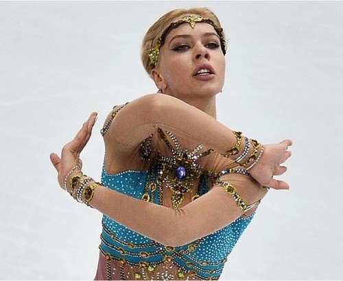 Russian figure skater Anna Pogorilaya