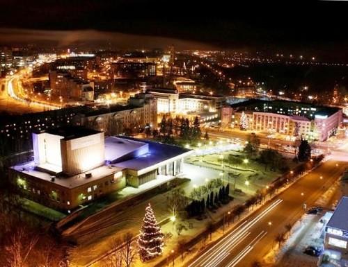 Lipetsk at night