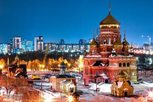 Orenburg at night