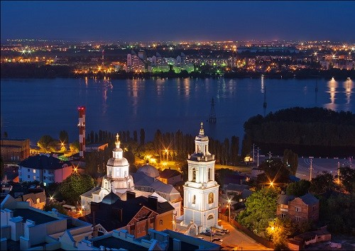 Voronezh at night