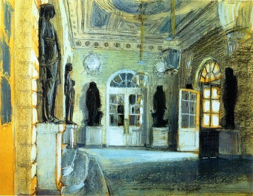 Alexander Benois. Anteroom of the Grand Palace in Pavlovsk. 1902. Tretyakov Gallery, Moscow