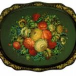 Russian folk art Zhostovo painted trays