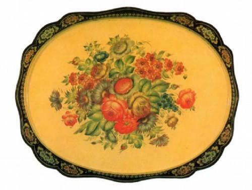 Zhostovo painted trays