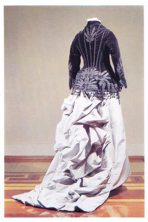 Cloak of black silk, stand-up collar. Russian Folk Costume