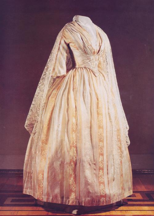 Dress (bodice and skirt) of silk. Russian Folk Costume
