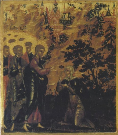 Ivan Bolyakin and Nikita Butorin Icon The Acathistos in Honor of the Savior and its border scene