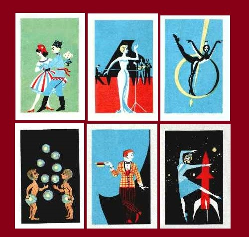 Moscow Music Hall matchbox labels (11)