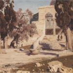 Omar's Mosque. Haram Esh Sharif. 1882