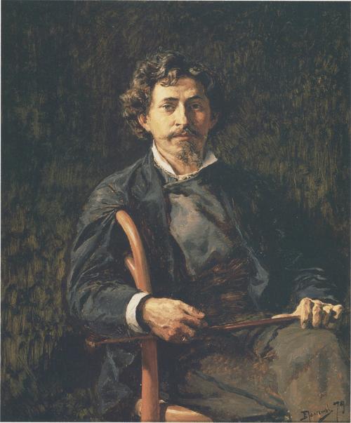 Portrait of I. Ye. Repin. 1879