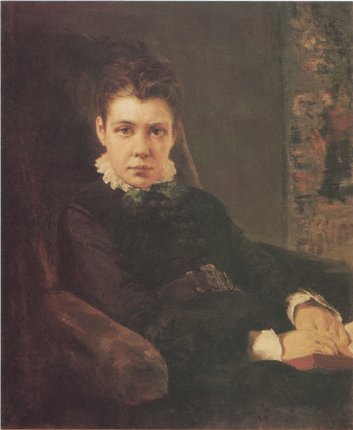 Portrait of V. D. Khrushtchova, the Artist's Sister. 1874