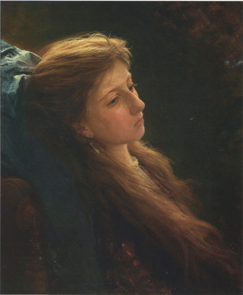 Girl with a Tress. 1873