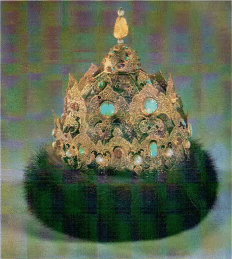 The Cap of Kazan. Russia Mid-16th century. Moscow Kremlin Armory ancient state regalia